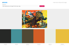 Screenshot of Get Colours - make a colour palette from a picture