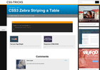 Screenshot of CSS3 Zebra Striping a Table | CSS-Tricks