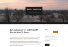 Screenshot of Set up Laravel 5.4 with MAMP Pro on MacOS Sierra | Barry Sampson