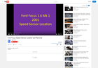 Screenshot of Video of Ford Focus Speed Sensor Location and Removal