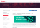 Screenshot of How To Send a WhatsApp Message in 30 Seconds with PHP - Twilio