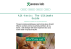 Screenshot of Alt-texts: The Ultimate Guide - Axess Lab