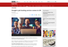 Screenshot of Google's job hunting service comes to UK - BBC News