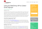 Screenshot of Mailchimp API example - subscribe in PHP