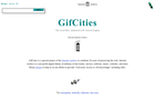 Screenshot of Gifcities