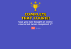 Screenshot of Complete That Course!