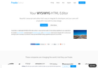 Screenshot of Beautiful WYSIWYG HTML Editor | Javascript Rich Text Editor | Froala