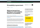 Screenshot of What we learned from getting our autocomplete tested for accessibility - Accessibility in government